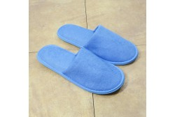 Blue terry slipper closed toe