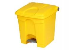 Plastik pedaaliga prügikast 30L, kollane