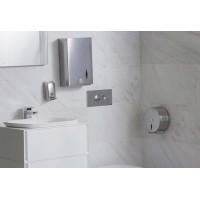 Soap dispenser 450ml, metal shiny