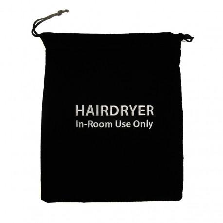Hair dryer bag, black