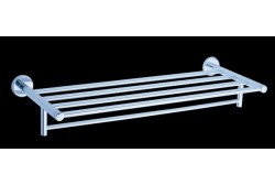 Bath towel shelf with towel rail 60 cm