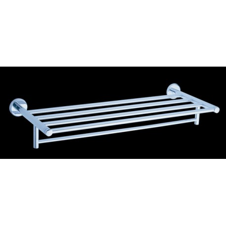 Bath towel shelf with towel rail 60 cm