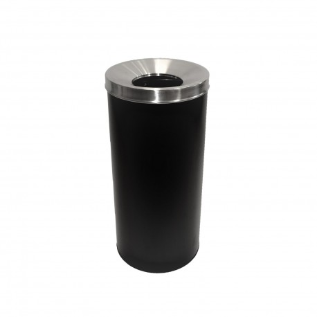 Waste bin 45L with insert black