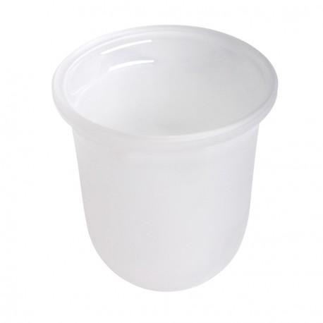 White satin glass cup Geesa