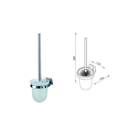 Toilet brush+holder, wall mounted Geesa