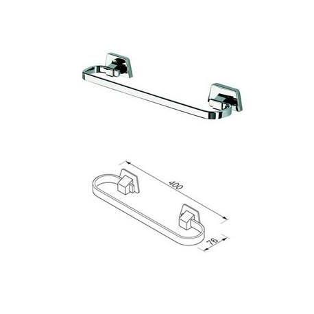 Towel rail concealed fixing, 40 cm Geesa