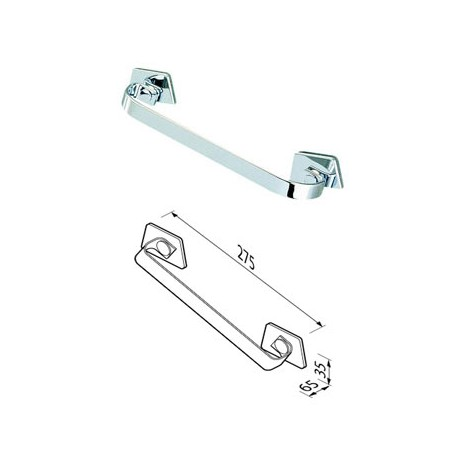 Grab rail, concealed fixing 25 cm, adjustable Geesa