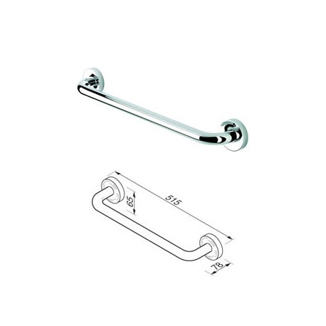 Towel rail 45 cm, 24 mm tube Geesa