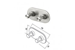 Coat/towel hook, double Geesa