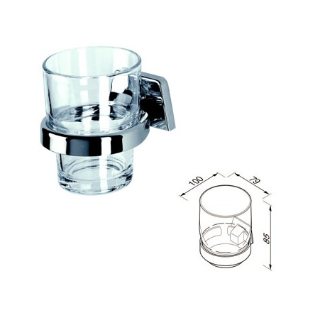 Tumbler holder with fortified glass Geesa
