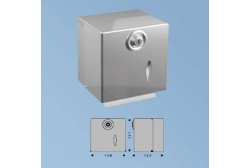 Toilet paper dispenser, mat steel
