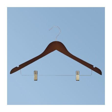 Вешалка с держателем брюк, темно-коричневая