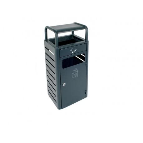 Waste bin-ash tray 20L+2.3L outdoor, dark grey