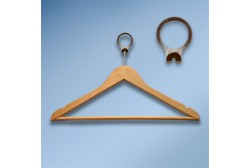 Anti-theft hanger wooden natural wood