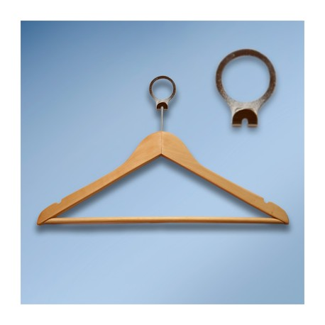 Anti-theft hanger wooden natural wood