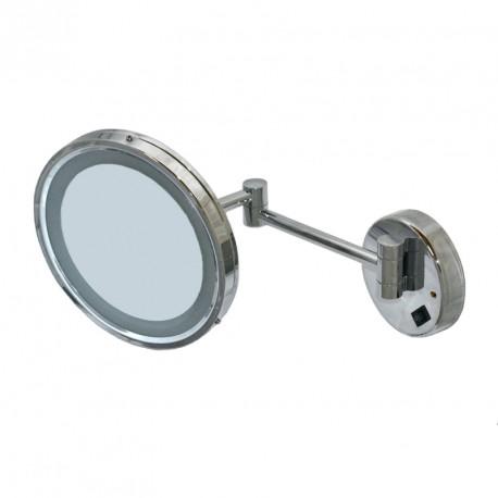 Освещенное круглое зеркало