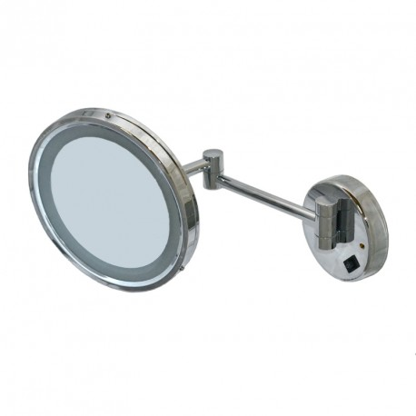 Round mirror with LED light