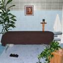 Полотенце-одеяло тёмно-коричневое 100*200 см