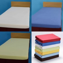 Jersey fitted bed sheets