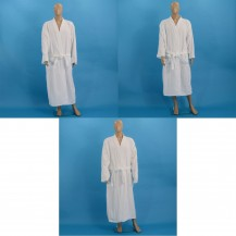 White velour bathrobes