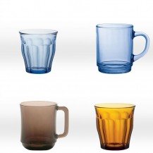Drinking glasses coloured