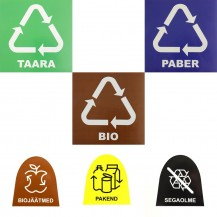 Waste bin stickers