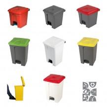Пластиковые мусорные корзины с педалью 30л и 45л
