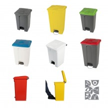 Plastic bins with pedal 70L and 90L
