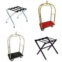 Luggage racks and trollies