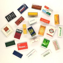 Safety matches with logo