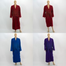 Colour terry bathrobes